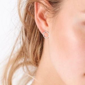 Jewelry - Rose Gold Circle Stud Earrings